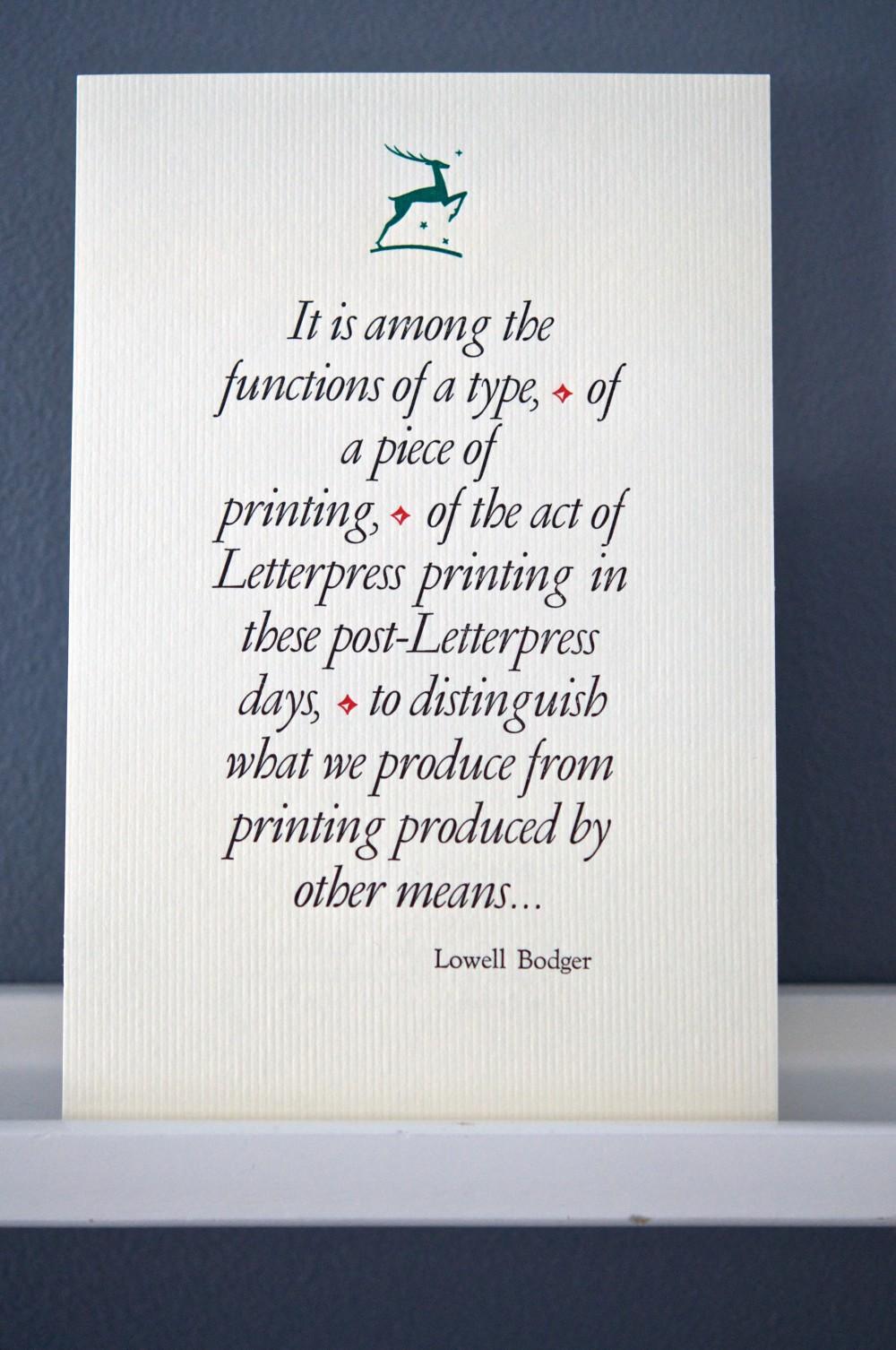 Functions of Type letterpress broadside