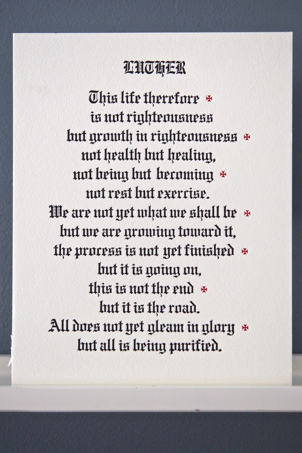 Martin Luther letterpress broadside