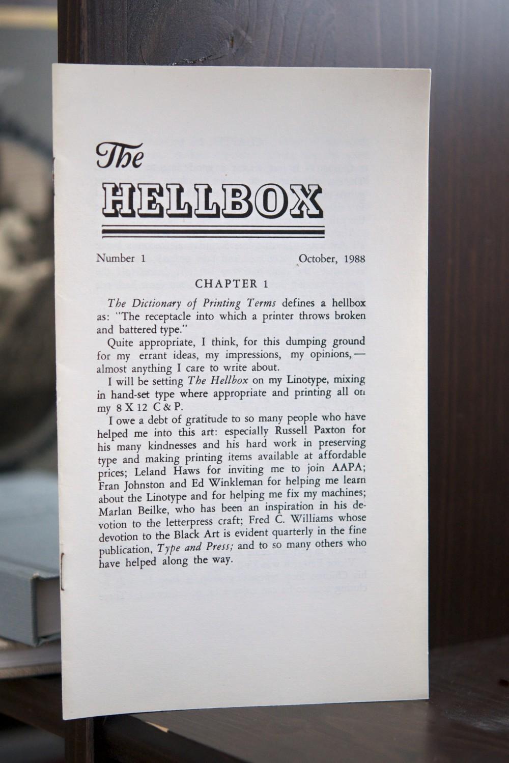 Hellbox letterpress pamphlet