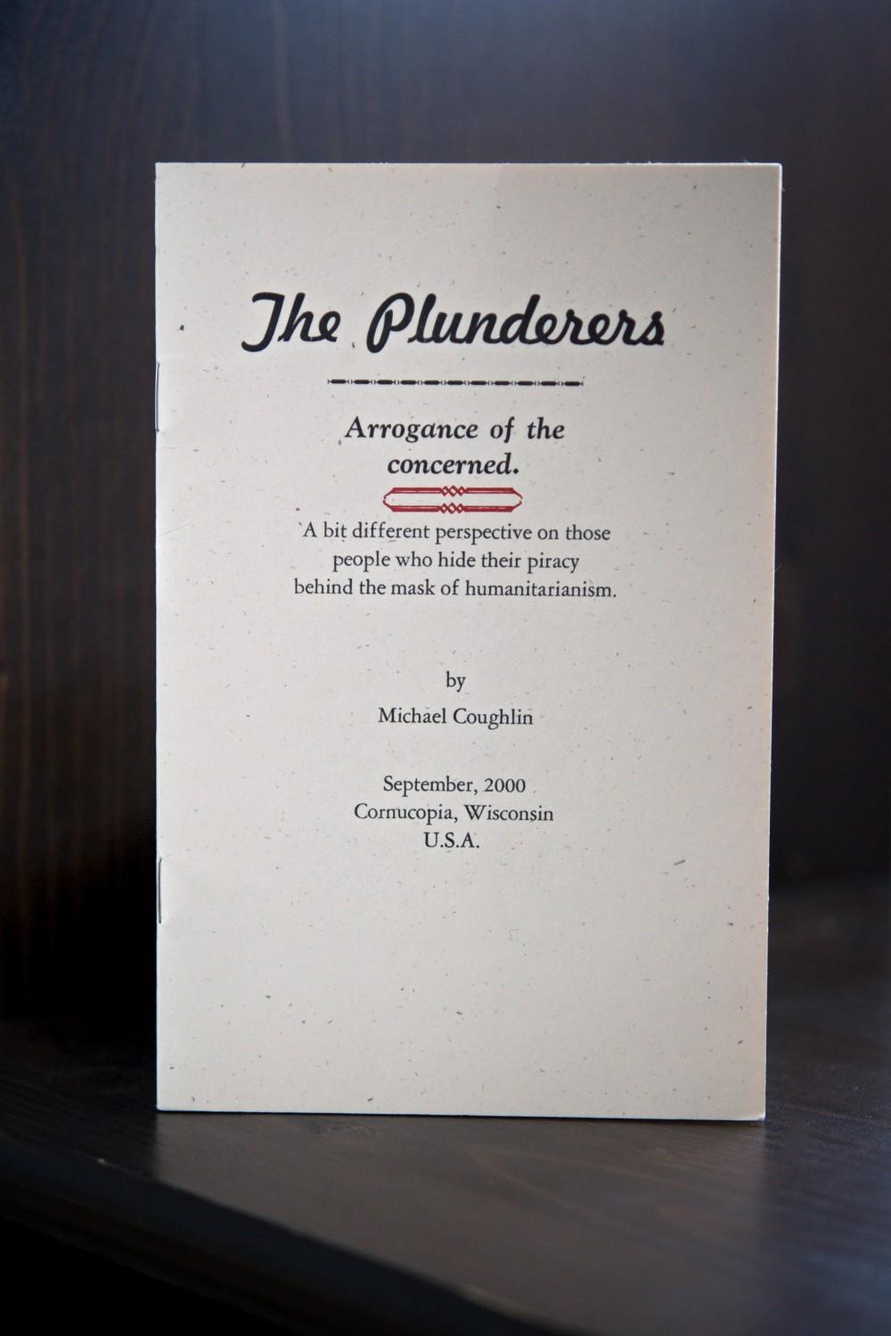 The Plunderers letterpress pamphlet