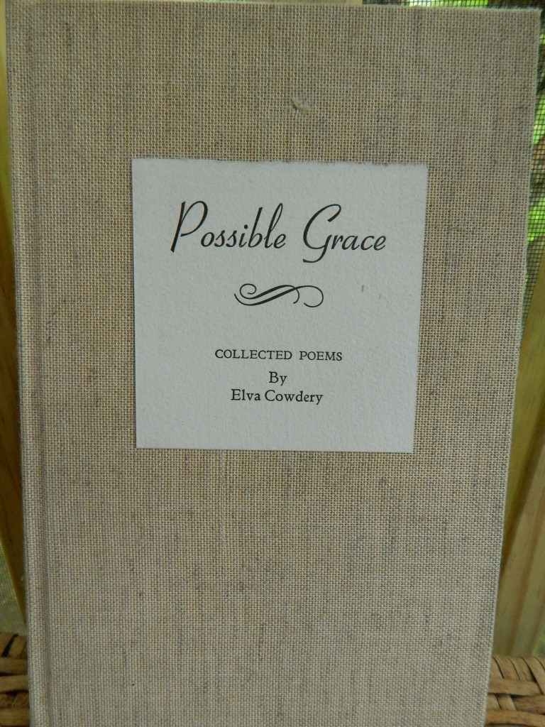 Photo of cover of Possible Grace letterpress-printed book