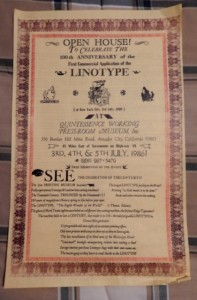 Linotype Open House