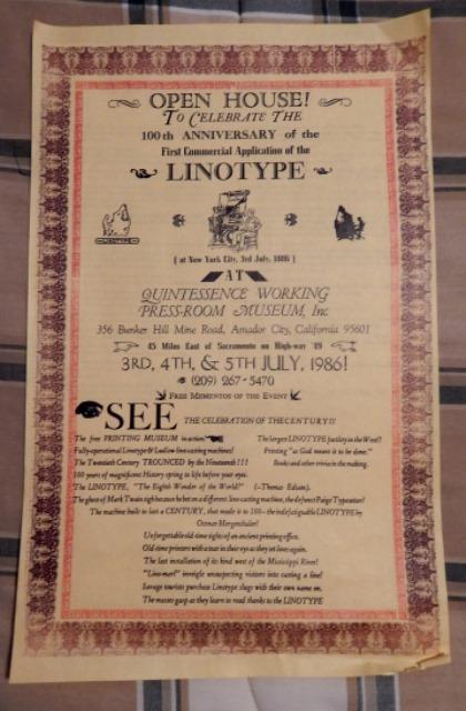 Centenary celebration of Linotype machine